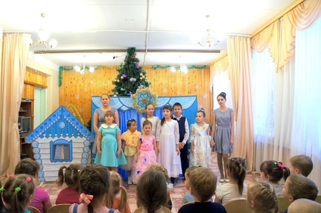 Рождественский утренник в детском саду «Светлячок» поселка Проводник