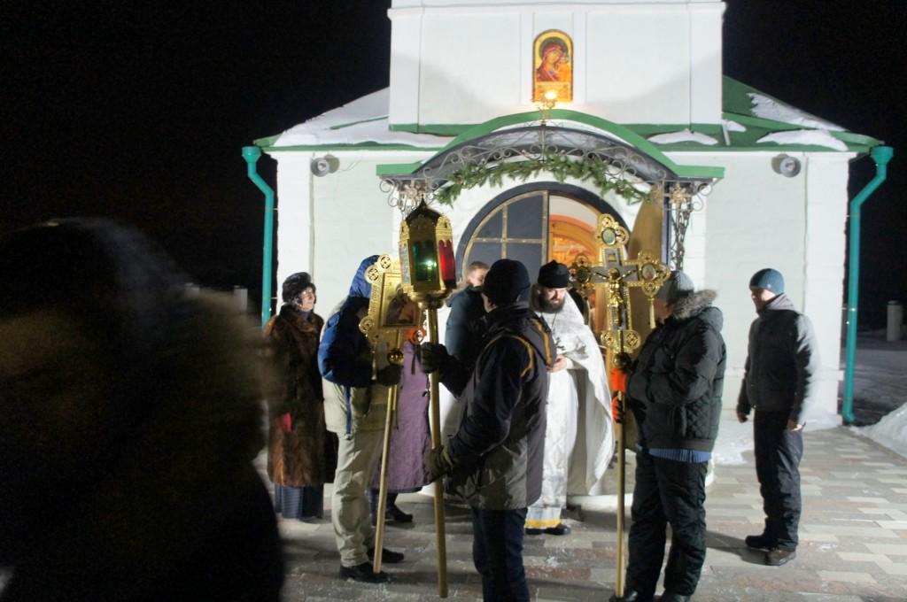 Крещение Господне на приходе Казанского храма деревни Богдановка