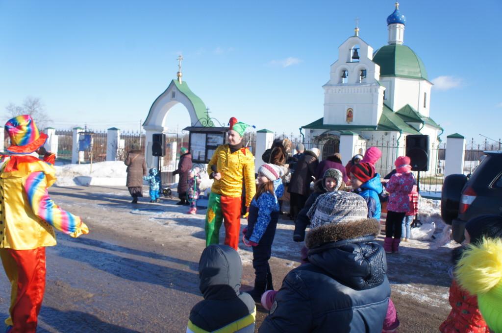 Масленица на приходе Казанского храма деревни Богдановка